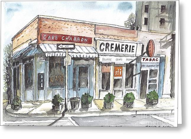 Cafe Charbon Nyc Greeting Card