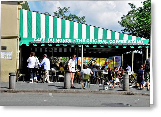 Greeting Card featuring the photograph Cafe Du Monde by Helen Haw