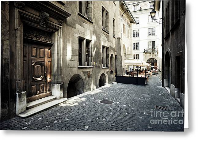 Cafe Geneve Greeting Card