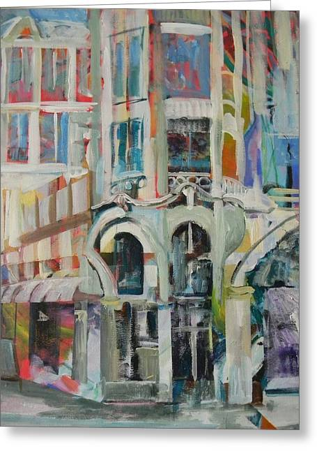 Cafe In Paris Greeting Card by Carol Mangano