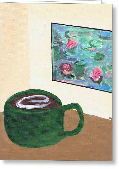 Cafe Monet Greeting Card