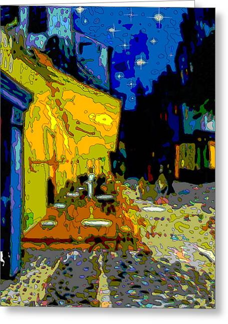 Greeting Card featuring the painting Cafe Vincent by Jann Paxton