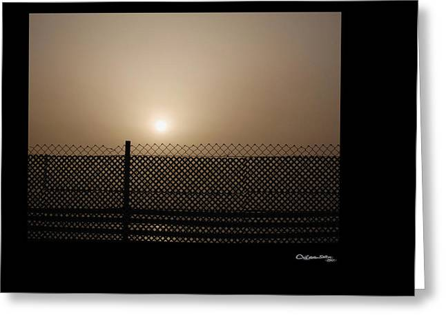Caged Sunset Greeting Card