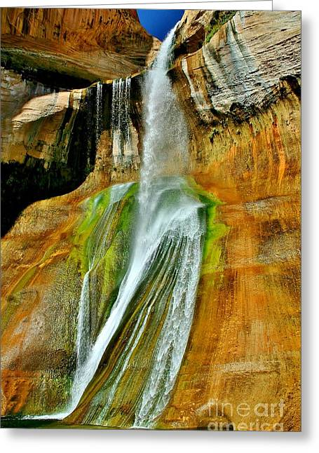Calf Creek Falls II Greeting Card by Ellen Heaverlo
