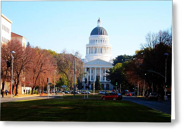 California Capitol Building-3 Greeting Card by Barry Jones