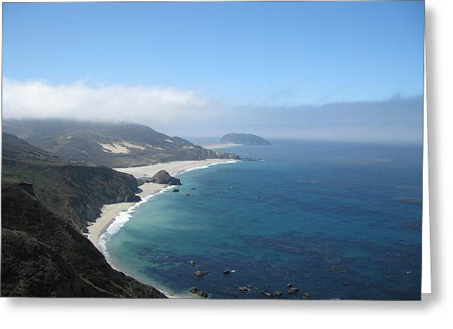 California Coast Greeting Card by Kathy Long