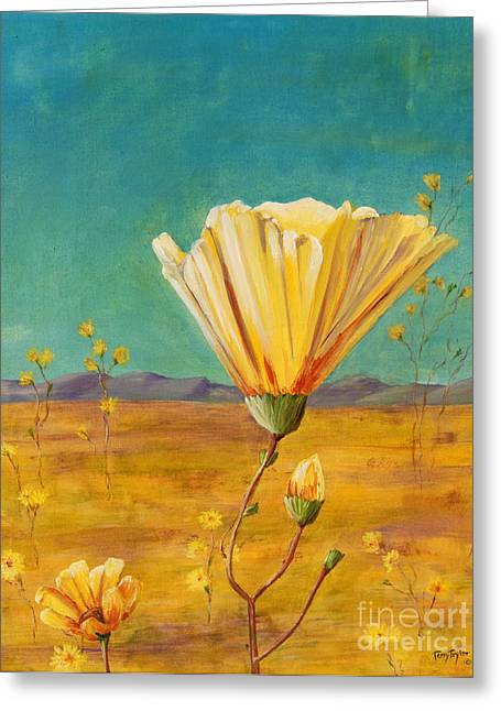 Greeting Card featuring the painting California Desert Closeup by Terry Taylor