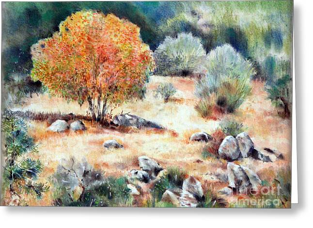 California Landscape Greeting Card by Natalia Eremeyeva Duarte