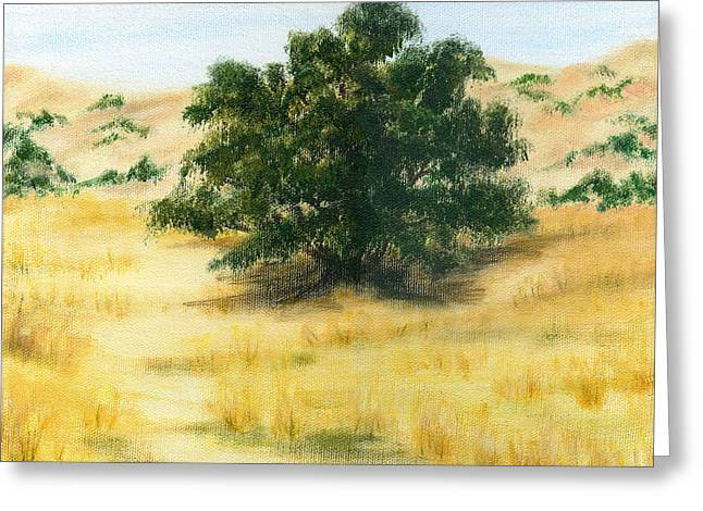 California Oak Greeting Card by Colleen Ward