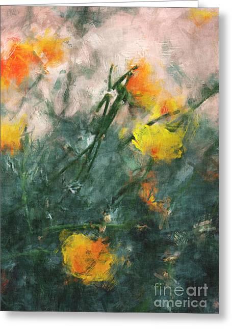 California Poppies Greeting Card by Julie Lueders
