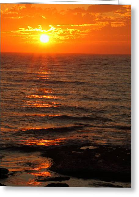 Greeting Card featuring the photograph California Sunset by Coby Cooper