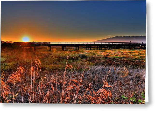 Greeting Card featuring the photograph California Sunset by Marta Cavazos-Hernandez