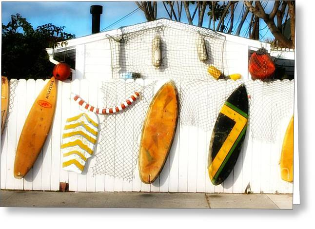California Surf Shack Greeting Card