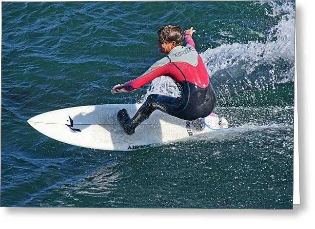California Surfer Greeting Card by Brendan Reals