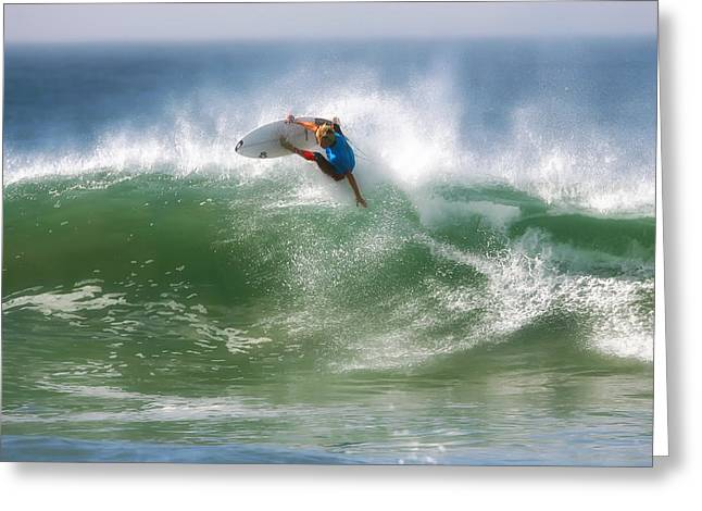 California Surfing 1 Greeting Card by Larry Marshall