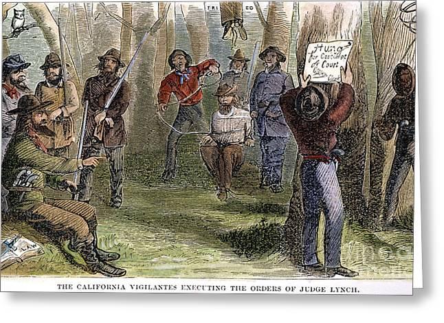 California Vigilantes Greeting Card by Granger