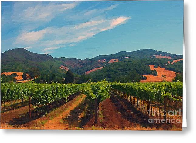California Vineyard Greeting Card