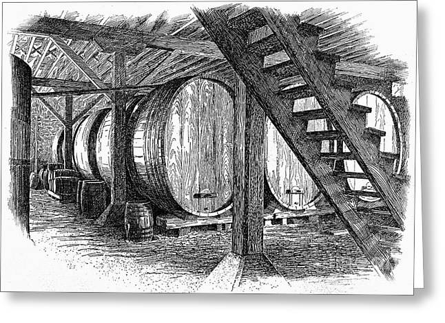California: Winery, C1890 Greeting Card by Granger