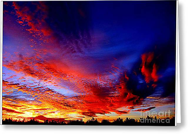 Californian Sunset Greeting Card by Irina Hays