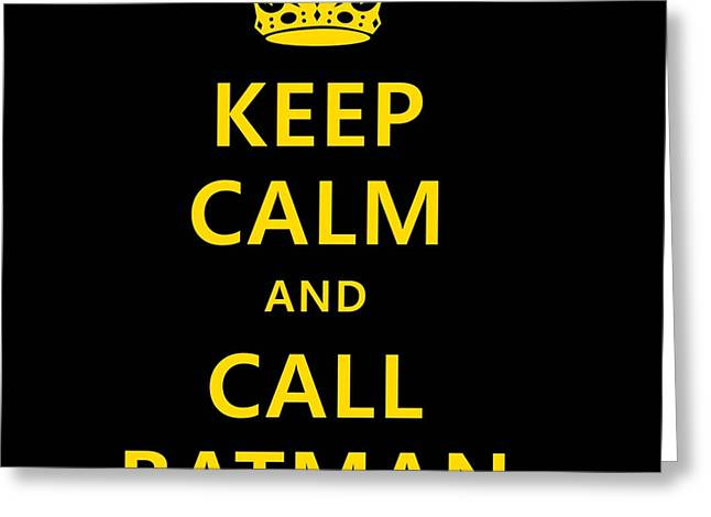 Call Batman Greeting Card