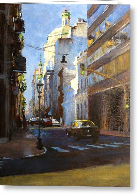 Calle Defensa Greeting Card