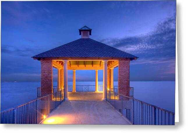 Calm Evening Greeting Card by Pixel Perfect by Michael Moore