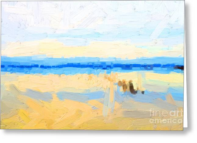Calm Morning Waters In Abstract Greeting Card by Wingsdomain Art and Photography