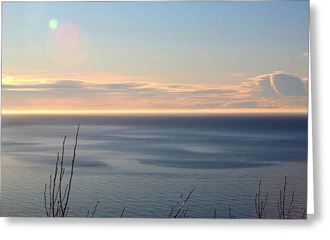 Greeting Card featuring the photograph Calm Sea by Michele Cornelius
