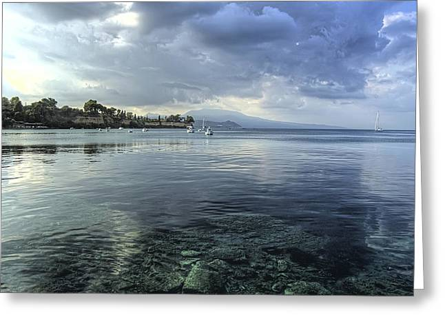 Calm Waters Greeting Card by Stamatis Gr