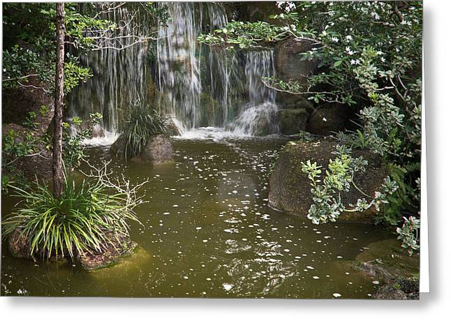 Calming Waterfall Greeting Card