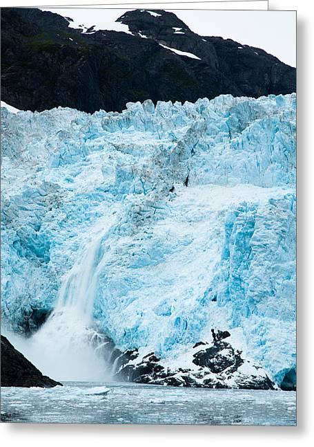 Calving Glacier Greeting Card by Adam Pender