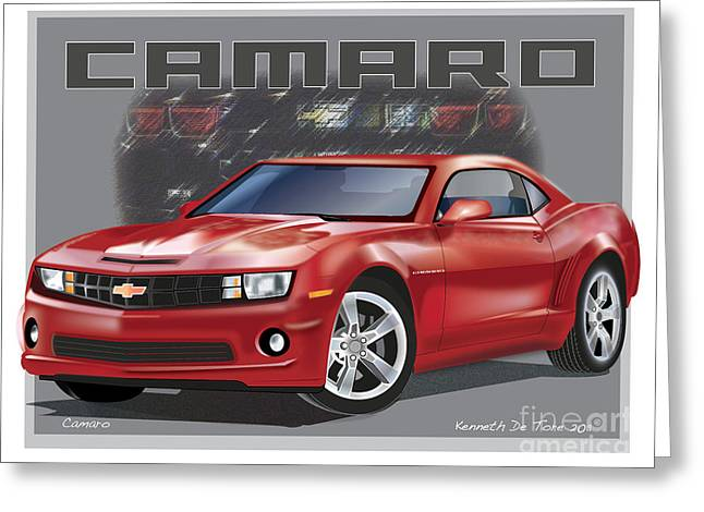 Camaro Greeting Card by Kenneth De Tore