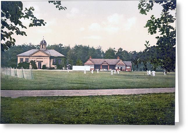 Camberley In Surrey - England - Cricket Ground At The Royal Military College Greeting Card