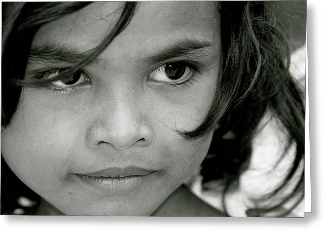 Cambodian Eyes Greeting Card