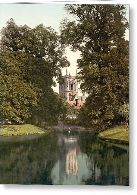 Cambridge - England - St. Johns College Chapel From The River Greeting Card by International  Images
