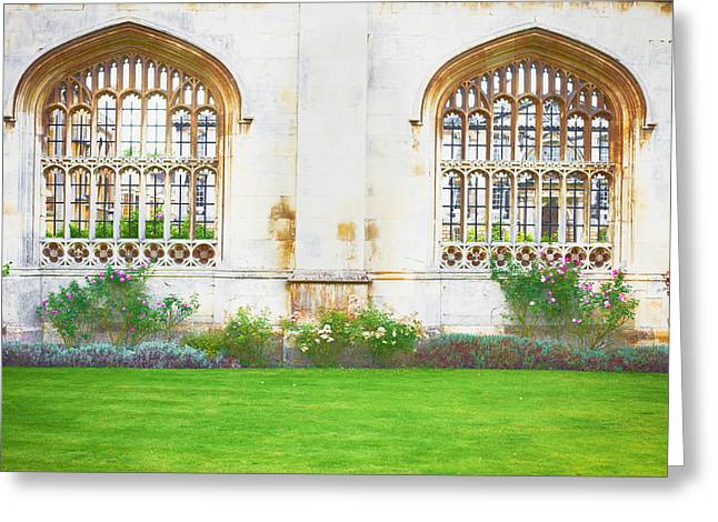 Cambridge Architecture Greeting Card by Tom Gowanlock