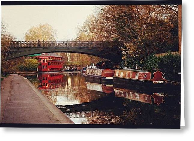 #camden #camdencanal #camdentown Greeting Card
