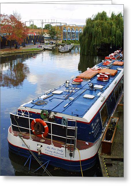 Camden Lock Greeting Card by Gareth M Thomas