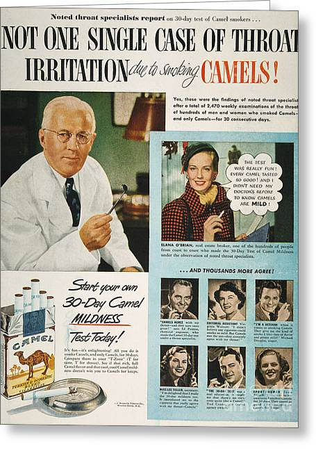 Camel Cigarette Ad, 1950 Greeting Card
