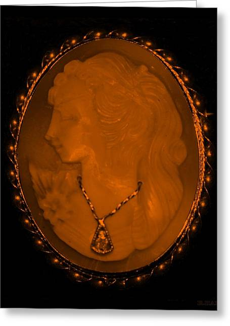 Cameo In Orange Greeting Card by Rob Hans