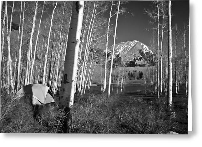 Camp At La Sal Mountain Greeting Card