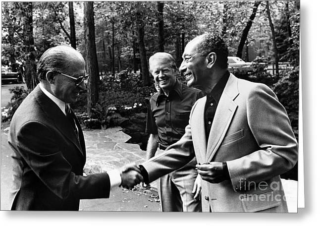 Camp David Summit, 1978 Greeting Card by Granger
