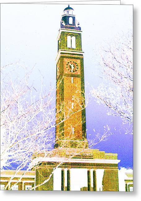 Greeting Card featuring the photograph Campanile At Louisiana State University by Louis Nugent