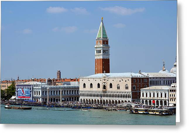 Campanile San Marco Greeting Card by Terence Davis