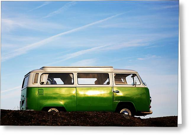 Greeting Card featuring the photograph Camper Van by David Harding