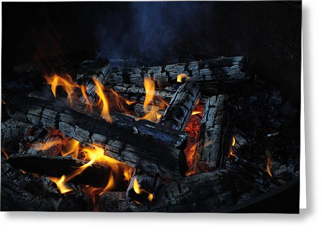 Greeting Card featuring the photograph Campfire by Fran Riley