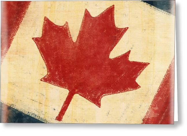 Canada Flag Greeting Card by Setsiri Silapasuwanchai