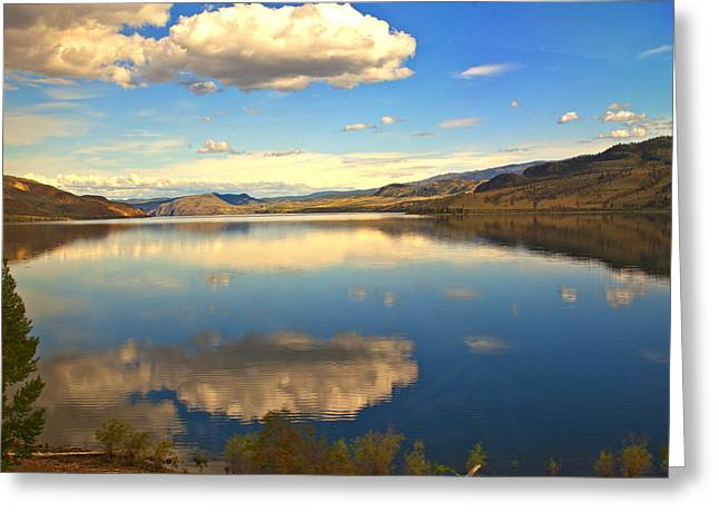 Canadian Lake 1437 Greeting Card by Larry Roberson