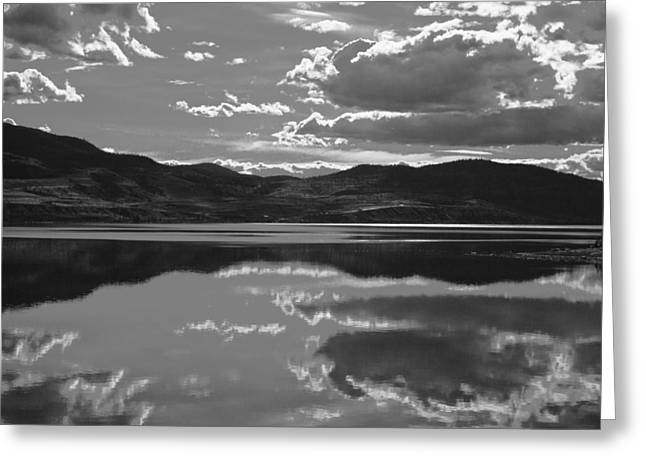 Canadian Lake 1455 Greeting Card by Larry Roberson
