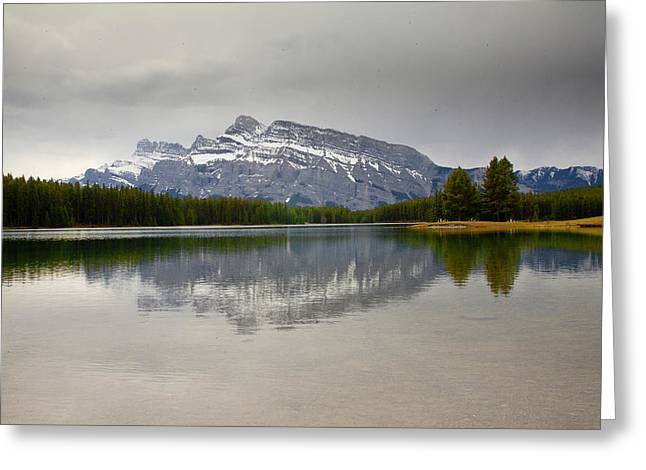 Canadian Lake 1733 Greeting Card by Larry Roberson